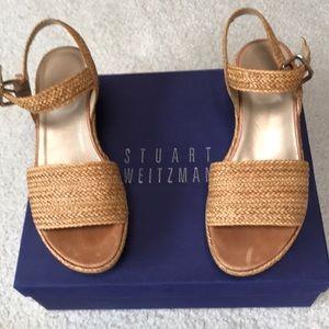 Stuart Weitzman Women's Barbados Wedge Sandals